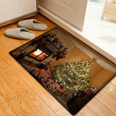 Christmas Tree Fireplace Pattern Anti-skid Water Absorption Area Rug