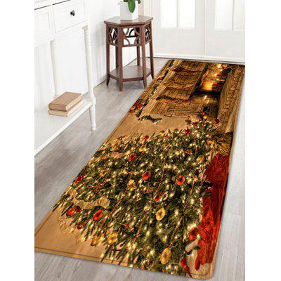 Christmas Tree Fireplace Pattern Water Absorbing Area Rug