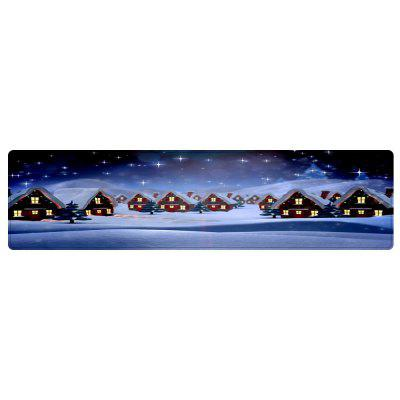Christmas Snow Village Pattern Water Absorption Area Rug от GearBest.com INT