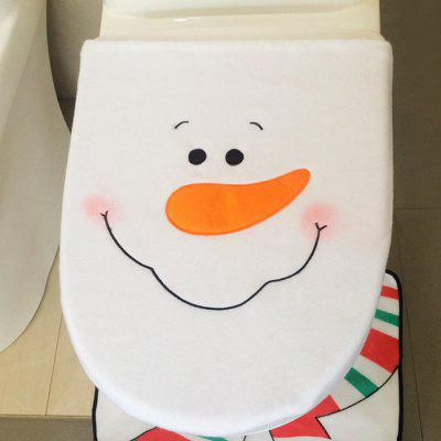 1 Piece Christmas Snowman Toilet Lid Cover