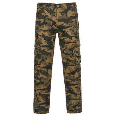 Zipper Fly Camouflage Pockets Cargo Pants