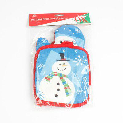 Christmas Snowman Pattern Cooking Oven Glove and PadBBQ<br>Christmas Snowman Pattern Cooking Oven Glove and Pad<br><br>Applicaton: Other<br>Material: Fabric<br>Package Contents: 1 x Oven Glove 1 x Oven Pad<br>Type: Oven Mitts &amp; Oven Sleeves<br>Weight: 0.0900kg