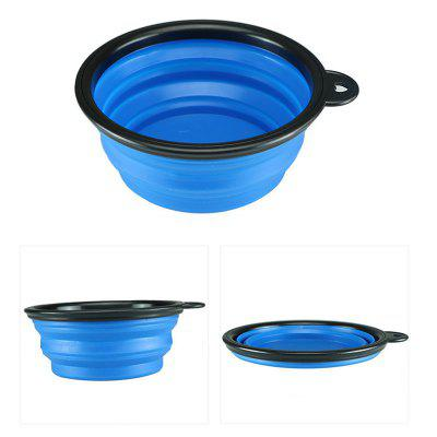 Portable Silicone Foldable Dog Bowl with Buckle