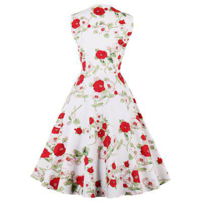 Vintage Floral Print Fit and Flare Party DressWomens Dresses<br>Vintage Floral Print Fit and Flare Party Dress<br><br>Dress Type: Fit and Flare Dress,Skater Dress<br>Dresses Length: Knee-Length<br>Material: Cotton, Spandex<br>Neckline: Square Collar<br>Package Contents: 1 x Dress<br>Pattern Type: Floral<br>Season: Spring, Fall<br>Silhouette: A-Line<br>Sleeve Length: Sleeveless<br>Style: Vintage<br>Weight: 0.3500kg<br>With Belt: No