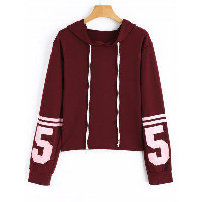 Numero Contrasting Hoodie con coulisse