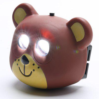 Cartoon Bear Shape LED Cycling Headlamp