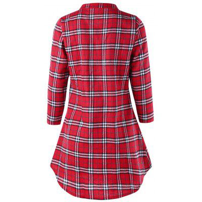 Plus Size Pintuck Plaid Tunic ShirtPlus Size Tops<br>Plus Size Pintuck Plaid Tunic Shirt<br><br>Collar: Round Neck<br>Material: Polyester<br>Package Contents: 1 x Shirt<br>Pattern Type: Plaid<br>Season: Spring, Fall<br>Shirt Length: Long<br>Sleeve Length: Full<br>Style: Vintage<br>Weight: 0.2700kg