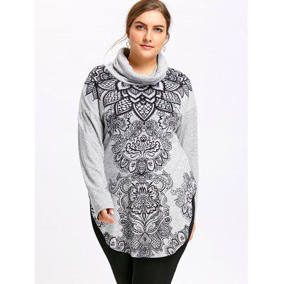 Plus Size Bandana Floral Cowl Neck TopPlus Size Tops<br>Plus Size Bandana Floral Cowl Neck Top<br><br>Collar: Cowl Neck<br>Material: Polyester, Rayon<br>Package Contents: 1 x Top<br>Pattern Type: Floral<br>Season: Fall, Spring<br>Shirt Length: Long<br>Sleeve Length: Full<br>Style: Casual<br>Weight: 0.3700kg