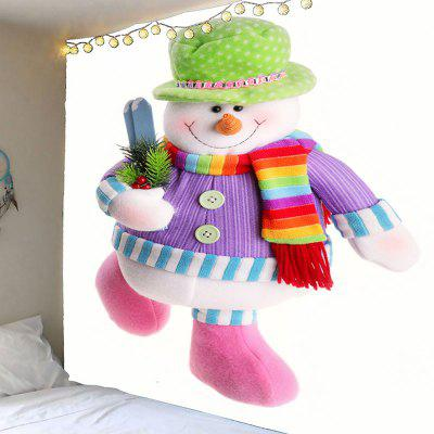Colorful Snowman Printed Waterproof Wall Tapestry