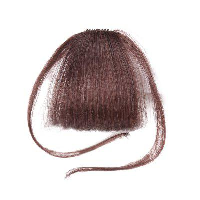 Human Hair Short Clip-in See-through Bang Hair Piece With Temples