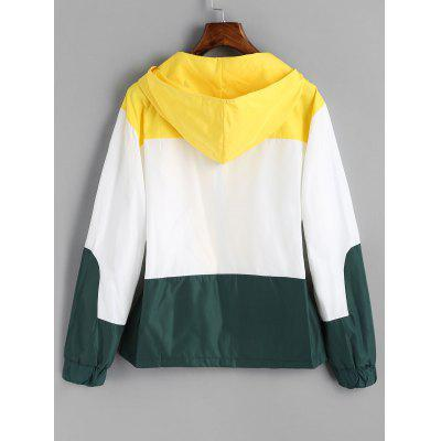 Color Block Zip Up Hooded JacketJackets &amp; Coats<br>Color Block Zip Up Hooded Jacket<br><br>Clothes Type: Jackets<br>Collar: Hooded<br>Material: Polyester, Cotton<br>Package Contents: 1 x Jacket<br>Pattern Type: Patchwork<br>Shirt Length: Regular<br>Sleeve Length: Full<br>Style: Fashion<br>Type: Wide-waisted<br>Weight: 0.4500kg<br>With Belt: No