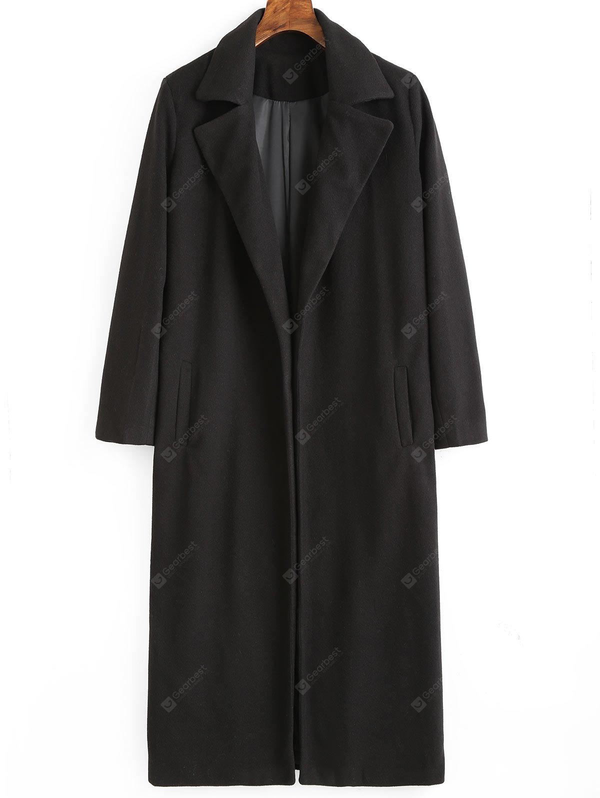 Lapel Collar Coat with Pockets