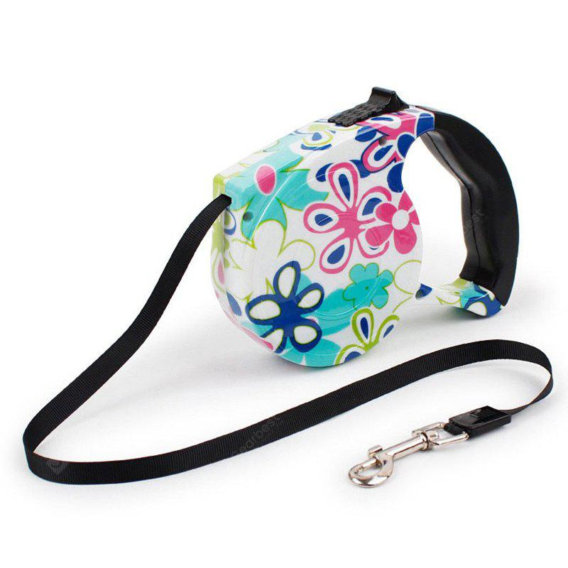 Patterned 5M Retractable Walking Dog Leash