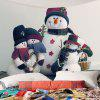 Snowman Family Printed Waterproof Wall Tapestry - COLORMIX