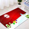 Christmas Moon Snowman Pattern Water Absorption Area Rug - RED