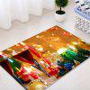Christmas Red Wine Candles Pattern Water Absorption Area Rug - COLORMIX