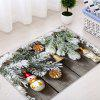 Christmas Woodgrain Pine Pattern Water Absorption Area Rug - COLORMIX