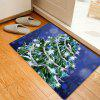 Christmas Stars Tree Pattern Water Absorbing Area Rug - COLORMIX