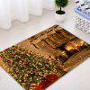 Christmas Tree Fireplace Pattern Water Absorbing Area Rug - COLORMIX