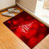 Christmas Deers Letters Pattern Water Absorption Area Rug - RED