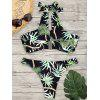 Bikini con stampa Halter Jungle - COLORI MISTI
