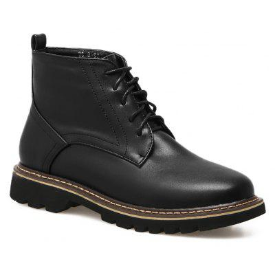 Buy BLACK 39 Stitching Lace Up PU Leather Boots for $31.99 in GearBest store