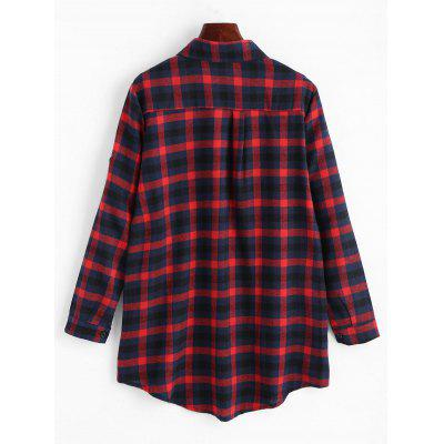 Pocket Plaid Tunic ShirtBlouses<br>Pocket Plaid Tunic Shirt<br><br>Collar: Shirt Collar<br>Material: Polyester<br>Package Contents: 1 x Shirt<br>Pattern Type: Plaid<br>Season: Fall, Spring<br>Shirt Length: Long<br>Sleeve Length: Full<br>Style: Casual<br>Weight: 0.3000kg