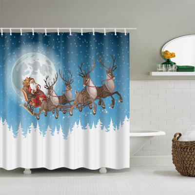 Christmas Moon Deer Sleigh Print Waterproof Shower CurtainShower Curtain<br>Christmas Moon Deer Sleigh Print Waterproof Shower Curtain<br><br>Materials: Polyester<br>Number of Hook Holes: W59 inch*L71 inch: 10; W71 inch*L71 inch: 12; W71 inch*L79 inch: 12<br>Package Contents: 1 x Shower Curtain 1 x Hooks (Set)<br>Pattern: Animal,Moon,Santa Claus<br>Products Type: Shower Curtains<br>Style: Festival