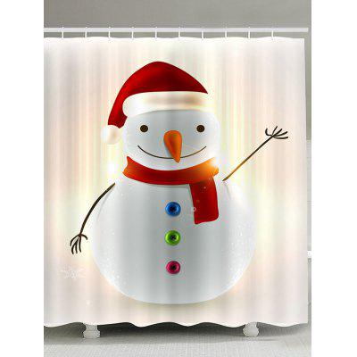 Cortina de chuveiro Happy Christmas Snowman Pattern