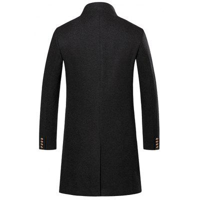 Open Front One Button Longline Woolen CoatMens Jackets &amp; Coats<br>Open Front One Button Longline Woolen Coat<br><br>Clothes Type: Wool &amp; Blends<br>Collar: Stand Collar<br>Material: Polyester, Spandex<br>Package Contents: 1 x Coat<br>Season: Winter<br>Shirt Length: X-Long<br>Sleeve Length: Long Sleeves<br>Style: Casual, Streetwear, Fashion<br>Weight: 0.9700kg