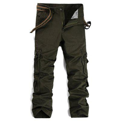 Multi Pockets Design Straight Leg Cargo Pants