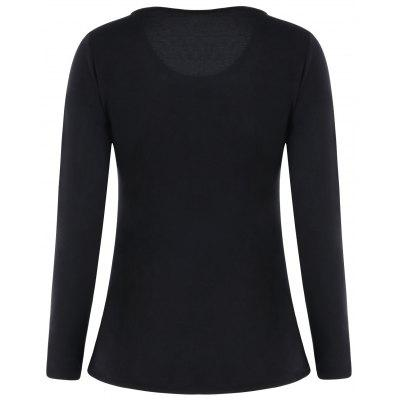 V Neck Long Sleeve Graphic T-shirtBlouses<br>V Neck Long Sleeve Graphic T-shirt<br><br>Collar: V-Neck<br>Material: Polyester<br>Package Contents: 1 x T-shirt<br>Pattern Type: Print<br>Season: Fall, Spring<br>Shirt Length: Regular<br>Sleeve Length: Full<br>Style: Fashion<br>Weight: 0.2500kg