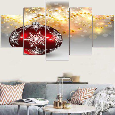 Christmas Snowflakes Ball Beads Pattern Wall Stickers