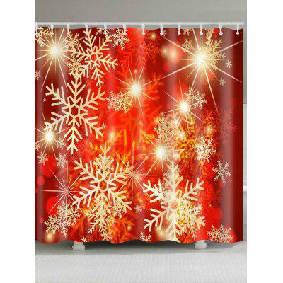 Snowflakes Printed Waterproof Shower Curtain
