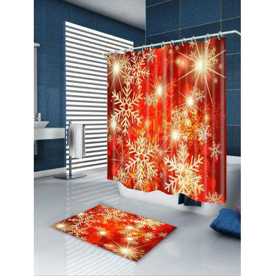 Snowflakes Printed Waterproof Shower CurtainShower Curtain<br>Snowflakes Printed Waterproof Shower Curtain<br><br>Materials: Polyester<br>Number of Hook Holes: W59 inch*L71 inch: 10; W71 inch*L71 inch: 12; W71 inch*L79 inch: 12<br>Package Contents: 1 x Shower Curtain 1 x Hooks (Set)<br>Pattern: Snowflake<br>Products Type: Shower Curtains<br>Style: Festival