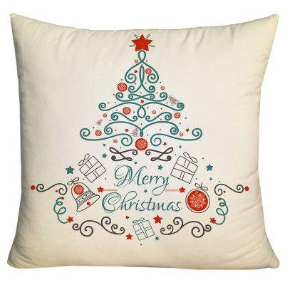 Christmas Elements Tree Print Decorative Pillow Case