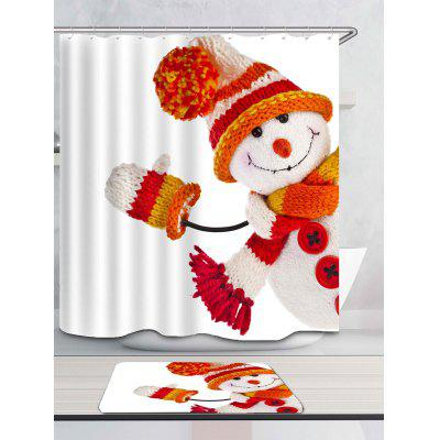 Knitted Snowman Doll Printed Waterproof Shower CurtainShower Curtain<br>Knitted Snowman Doll Printed Waterproof Shower Curtain<br><br>Materials: Polyester<br>Number of Hook Holes: W59 inch*L71 inch: 10; W71 inch*L71 inch: 12; W71 inch*L79 inch: 12<br>Package Contents: 1 x Shower Curtain 1 x Hooks (Set)<br>Pattern: Snowman<br>Products Type: Shower Curtains<br>Style: Festival