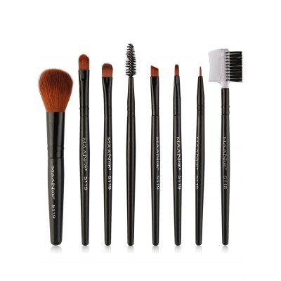 8Pcs Professional Plastic Handle Eye Makeup Brushes Collection