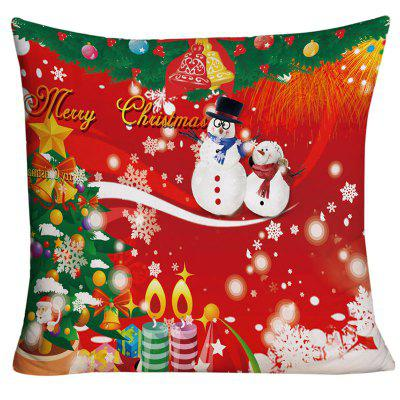 Merry Christmas Graphic Decorative Square Pillow Case