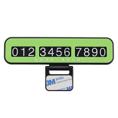 Phone Number Plate Car Temporary Parking Card
