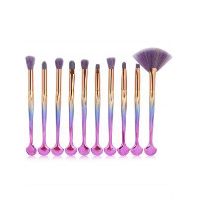 10Pcs Multifunktionsschale geformt verschönert Make-up Pinsel Set