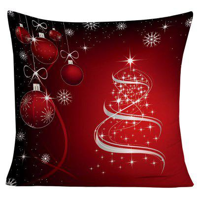 Christmas Hanging Balls Snowflake Print Decorative Pillowcase