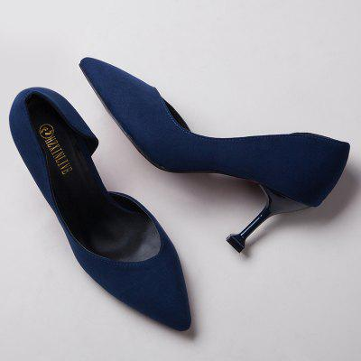 Stiletto Heel PumpsWomens Pumps<br>Stiletto Heel Pumps<br><br>Heel Type: Stiletto Heel<br>Occasion: Casual<br>Package Contents: 1 x Pumps (pair)<br>Pumps Type: Basic<br>Season: Spring/Fall, Winter<br>Shoe Width: Medium(B/M)<br>Toe Shape: Pointed Toe<br>Toe Style: Closed Toe<br>Upper Material: Suede<br>Weight: 1.3800kg