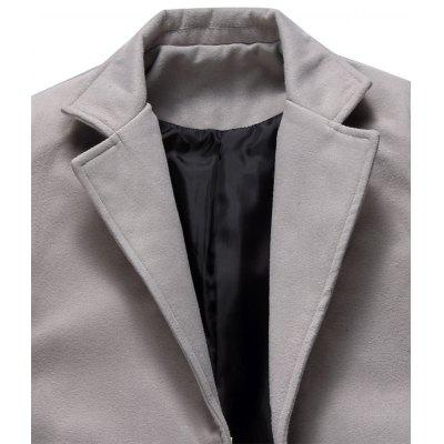 Single Breasted Longline Woolen CoatMens Jackets &amp; Coats<br>Single Breasted Longline Woolen Coat<br><br>Clothes Type: Wool &amp; Blends<br>Collar: Turn-down Collar<br>Material: Polyester, Wool<br>Package Contents: 1 x Coat<br>Season: Winter<br>Shirt Length: X-Long<br>Sleeve Length: Long Sleeves<br>Style: Casual, Streetwear, Fashion<br>Weight: 0.9600kg