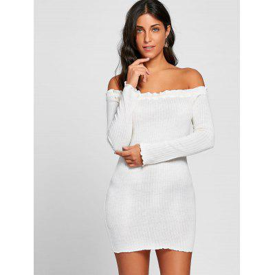 Off The Shoulder Long Sleeve Rib DressWomens Dresses<br>Off The Shoulder Long Sleeve Rib Dress<br><br>Dresses Length: Mini<br>Embellishment: Ruffles<br>Material: Cotton, Polyester<br>Neckline: Off The Shoulder<br>Occasion: Casual, Club, Night Out<br>Package Contents: 1 x Dress<br>Pattern Type: Solid Color<br>Season: Fall, Spring, Winter<br>Silhouette: Bodycon<br>Sleeve Length: Long Sleeves<br>Style: Brief<br>Weight: 0.2500kg<br>With Belt: No