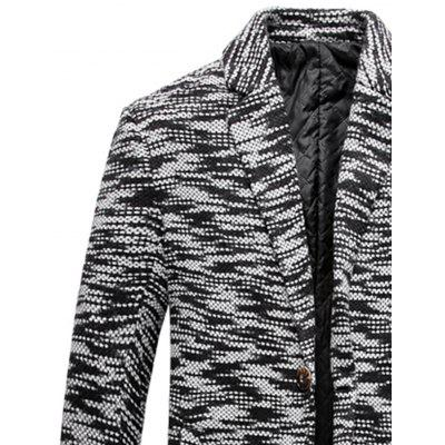Lapel Knit Blends One Button Padded CoatMens Jackets &amp; Coats<br>Lapel Knit Blends One Button Padded Coat<br><br>Clothes Type: Padded<br>Collar: Turn-down Collar<br>Material: Cotton, Polyester<br>Package Contents: 1 x Coat<br>Season: Winter<br>Shirt Length: X-Long<br>Sleeve Length: Long Sleeves<br>Style: Casual, Streetwear, Fashion<br>Weight: 0.9900kg