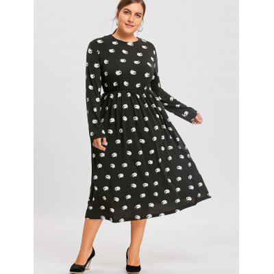 Plus Size Sheep Printed Long Sleeve DressPlus Size Dresses<br>Plus Size Sheep Printed Long Sleeve Dress<br><br>Dresses Length: Mid-Calf<br>Material: Cotton Blend, Polyester<br>Neckline: Round Collar<br>Package Contents: 1 x Dress<br>Pattern Type: Animal, Print<br>Season: Winter, Fall<br>Silhouette: A-Line<br>Sleeve Length: Long Sleeves<br>Style: Casual<br>Waist: Empire<br>Weight: 0.5000kg<br>With Belt: No