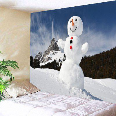 Snowy Mountain Snowman Pattern Wall Art TapestryBlankets &amp; Throws<br>Snowy Mountain Snowman Pattern Wall Art Tapestry<br><br>Feature: Removable, Waterproof<br>Material: Polyester<br>Package Contents: 1 x Tapestry<br>Shape/Pattern: Mountain,Snowman<br>Style: Natural<br>Theme: Landscape<br>Weight: 0.3100kg