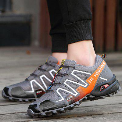 Outdoor Men Hiking ShoesAthletic Shoes<br>Outdoor Men Hiking Shoes<br><br>Closure Type: Lace-Up<br>Embellishment: Letter<br>Gender: For Men<br>Occasion: Casual<br>Outsole Material: Rubber<br>Package Contents: 1 x Pair of Athletic Shoes<br>Pattern Type: Patchwork<br>Season: Winter, Spring/Fall<br>Shoe Width: Medium(B/M)<br>Toe Shape: Round Toe<br>Toe Style: Closed Toe<br>Upper Material: Cotton Fabric<br>Weight: 1.1400kg