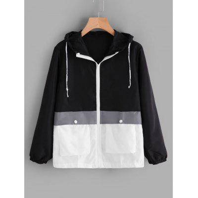Two Tone Hooded Water Repellent Jacket